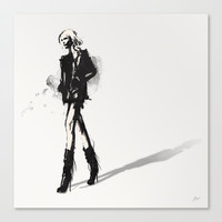 Fringe - Fashion Illustration Stretched Canvas by Allison Reich