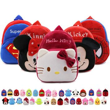 New Children School Bag For Girls Plush Cartoon Toy Baby Backpack Boy School Bags Gift For Kids Backpacks Kindergarten mochila