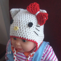 CROCHET PATTERN Hat Hello Kitty  All sizes by AlexHandicrafts