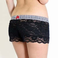 FOXERS - Black Lace Boxer Filmstrip FOXERS Band