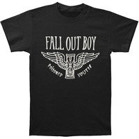 Fall Out Boy Men's  Hourglass T-shirt Black Rockabilia