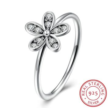 925 Sterling Silver Ring Five - leaf clover diamond ring female