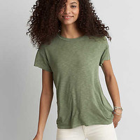 AEO Soft & Sexy Crew Favorite T-Shirt , Leaf Green