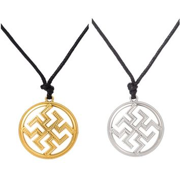 Skyrim Slavic Pendant Charm Symbol Warrior Talisman Norse Occult Pagan Amulet Jewelry Men Women Necklace 2017