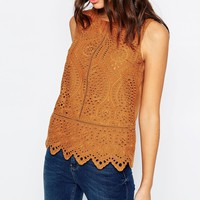 New Look Cutwork Shell Top