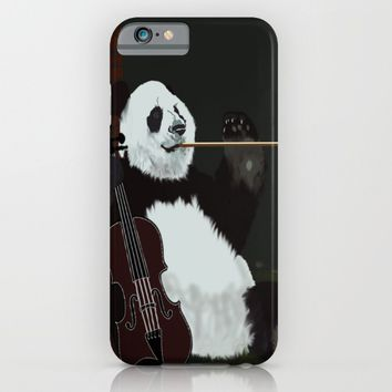 panda violinist iPhone & iPod Case by pukis
