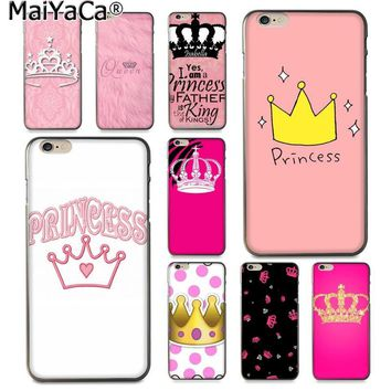 Cool MaiYaCa Pink PRINCESS Queen boss crown king Luxury Fashion 2D Phone Case for Apple iPhone 8 7 6 6S Plus X 5 5S SE XS XR XS MAXAT_93_12