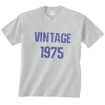 1975 Vintage Old Mens & Womens Colors - Birthday Shirt For Mom Or Dad - Blue or Pink Text - 40th Birthday Shirt Gift Perfect Present 2275