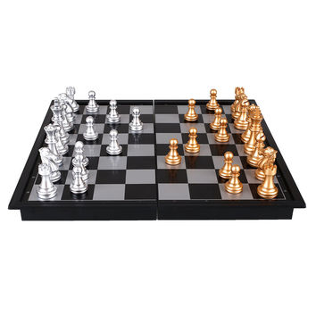 8 Inch Folding Plastic Magnetic Chess Set Mini Size Board Games Kids Toy
