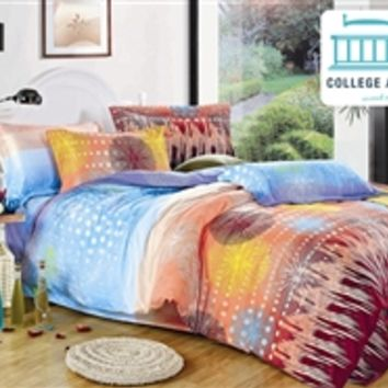 Aubade Twin XL Comforter Set - College Ave Designer Series Microfiber Twin XL Comforters Dorm Room Bedding