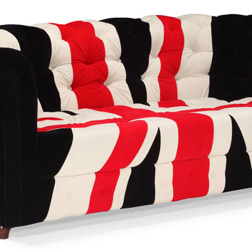 Union Jack Sofa Red, White & Black