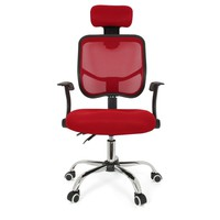 Seat Height Adjustment Office Computer Desk Chair Chrome Mesh Seat Ventilate