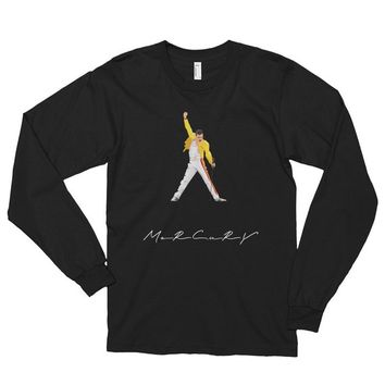 Freddie mercury shirt - the queen killer vintage band Long sleeve t-shirt (unisex)