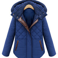 Hooded Diamond Accent Padded Jacket