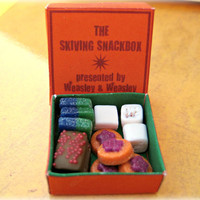 Skiving Snackbox by the Weasley brothers from Harry Potter in dollhouse miniature by LittleWooStudio on Etsy