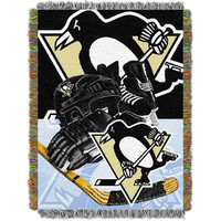 Pittsburgh Penguins NHL Woven Tapestry Throw Blanket (Home Ice Advantage) (48x60)