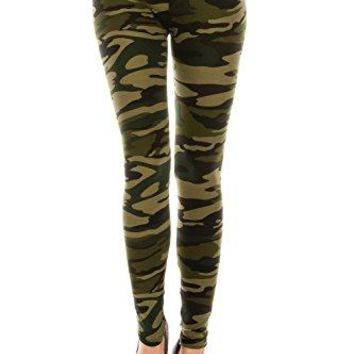 The Leggings Gallery Womens Printed Fashion Leggings Ultra Soft Solid amp Patterned  RegularPlus Sizes