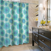 "KESS Original ""Blooming Green"" Angel House Shower Curtain"