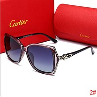 Cartier Trending Woman Men Stylish Summer Sun Shades Eyeglasses Glasses Cute Fox Head Sunglasses 2# I13517-1