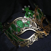 Laser Cut Metal Mask in Color of Your Choice