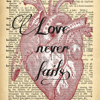 Heart Quote Dictionary Art Print