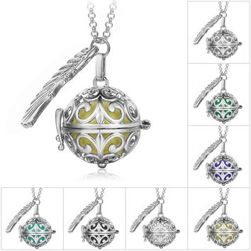 Pendant Necklace Pregnancy Balls Bola with Cage Angel Ball Baby Chime Metal Chain Necklaces