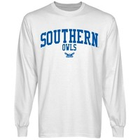 Southern Connecticut State Owls Team Arch Long Sleeve T-Shirt - White