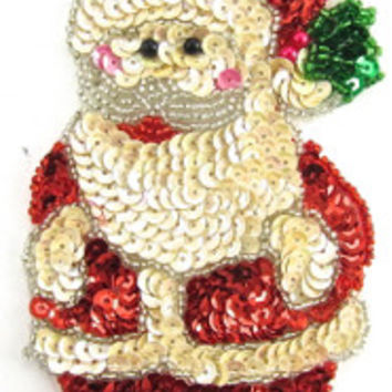 "Santa with Cap with Holly 5.5"" x 3"""
