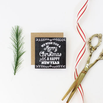 Christmas Chalkboard Gift Tags Personalized Holiday Tag Party Favor Tags Custom Black and White Typography Paper Gift Tag Chalkboard Labels