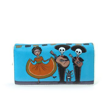 Mariachi Day of The Dead Wallet