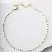 Granted Wishes Gold Rhinestone Choker Necklace