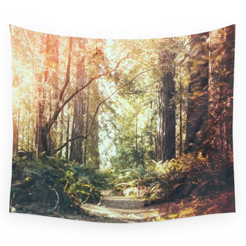 Society6 Beautiful California Redwoods Wall Tapestry