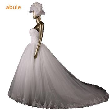 abule designer Limited edition quality wedding dress fashion brief lace train sweetheart princess bridal gown vestido de noiva