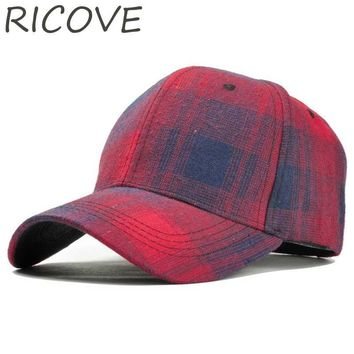 Trendy Winter Jacket Vintage Snapback Baseball Cap Black Plaid Trucker Dad Hat Women Men Caps Summer Cotton Hat Fashion Spring Sun Visor Retro Hats AT_92_12