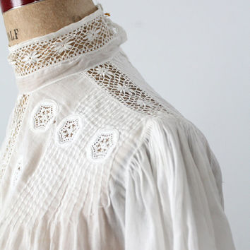 SALE Victorian blouse, small antique white top