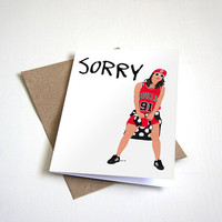 Justin Bieber Sorry Forgiveness Greeting Card -  Customizable - 5 x 7 Inches