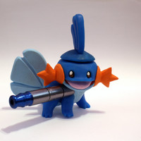Mudkip Pipe / MADE to ORDER / Pokemon / Polymer Clay Sculpture / Tobacco Hand Pipe