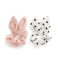 Polka Dot Hair Tie Set
