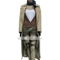 [$69.99] Inspired by Resident Evil Alice Video Game Cosplay Costumes Cosplay Suits Solid Brown Long SleeveCoat / Vest / Blouse / Shorts / Scarf /