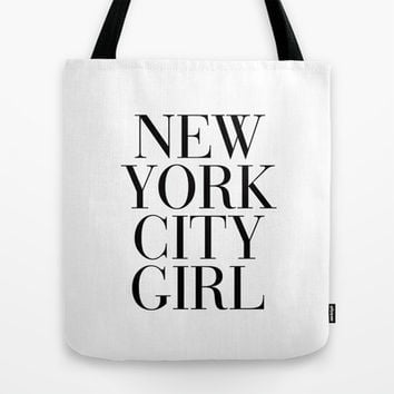 New York City Girl Tote Bag by RexLambo