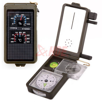 Multifunction 10-in-1 Military Compass Kit