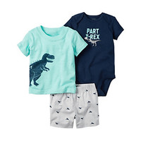 Baby Boy Carter's Dino Graphic Bodysuit, Tee & Shorts Set