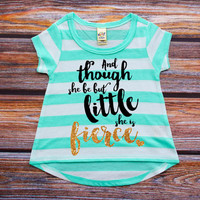She Is Fierce Shirt Mint Gold Baby Shower Gift Baby Girl Clothes Baby Girl Shirt Hipster Baby Clothes Baby Gift Mint And Gold #5