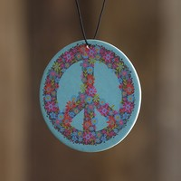 Car  Air  Fresheners:  Blue  Peace  Sign  Air  Freshener  From  Natural  Life