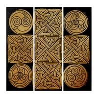 Celtic Knotwork Cross Triptych
