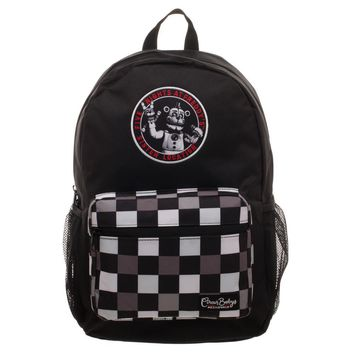 Five Nights at Freddy's Checkered Print Backpack