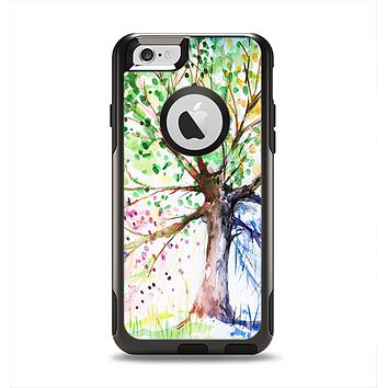 The WaterColor Vivid Tree Apple iPhone 6 Otterbox Commuter Case Skin Set