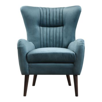 Dax Mid-century Teal Blue Accent Chair by Uttermost