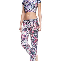 We Are Handsome Printed Pull-On Drawstring Coverup Pants