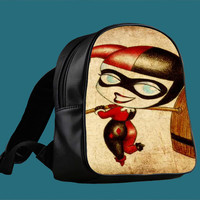Joker Harley Quinn B for Backpack / Custom Bag / School Bag / Children Bag / Custom School Bag ***